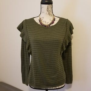 Frilled sweater